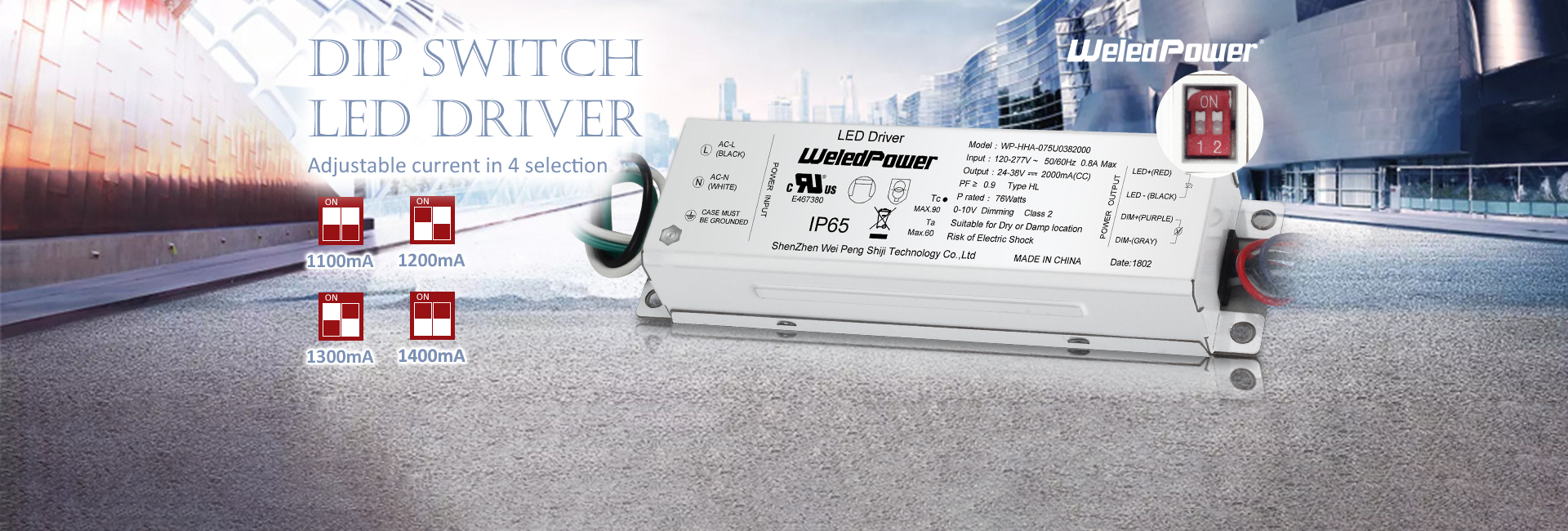 DIP Switch LED driver
