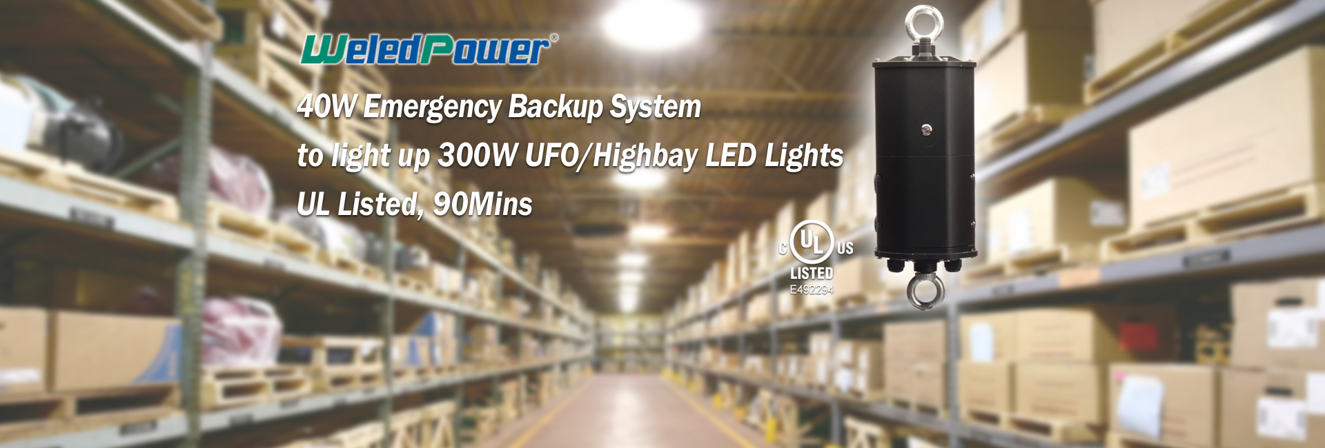EMERGENCY BACKUP SYSTEM FOR LED HIGHBAY /UFO